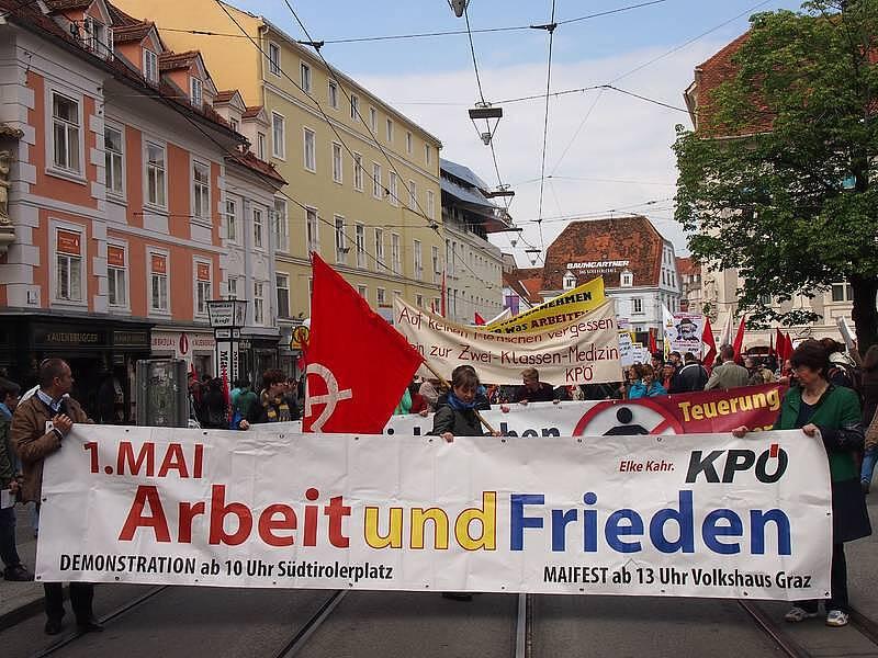 1.Mai-Demo KPÖ Graz